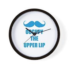 Occupy the upper lip Wall Clock