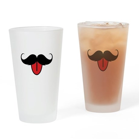 Funny moustache Drinking Glass