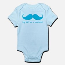 My shirt has a moustache Infant Bodysuit