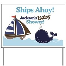 Ships Ahoy Jackson Baby Shower sign Yard Sign
