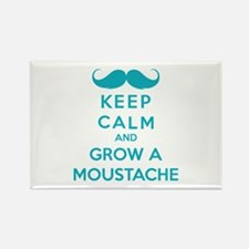 Keep calmd and grow a moustache Rectangle Magnet (