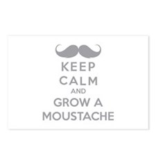 Keep calmd and grow a moustache Postcards (Package