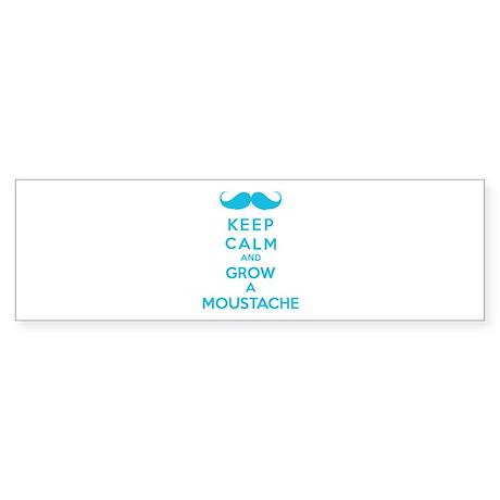 Keep calmd and grow a moustache Sticker (Bumper)