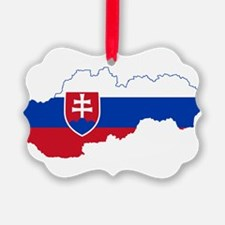 Slovakia Flag and Map Ornament