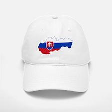 Slovakia Flag and Map Baseball Baseball Cap