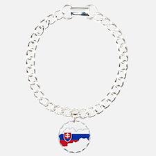 Slovakia Flag and Map Bracelet