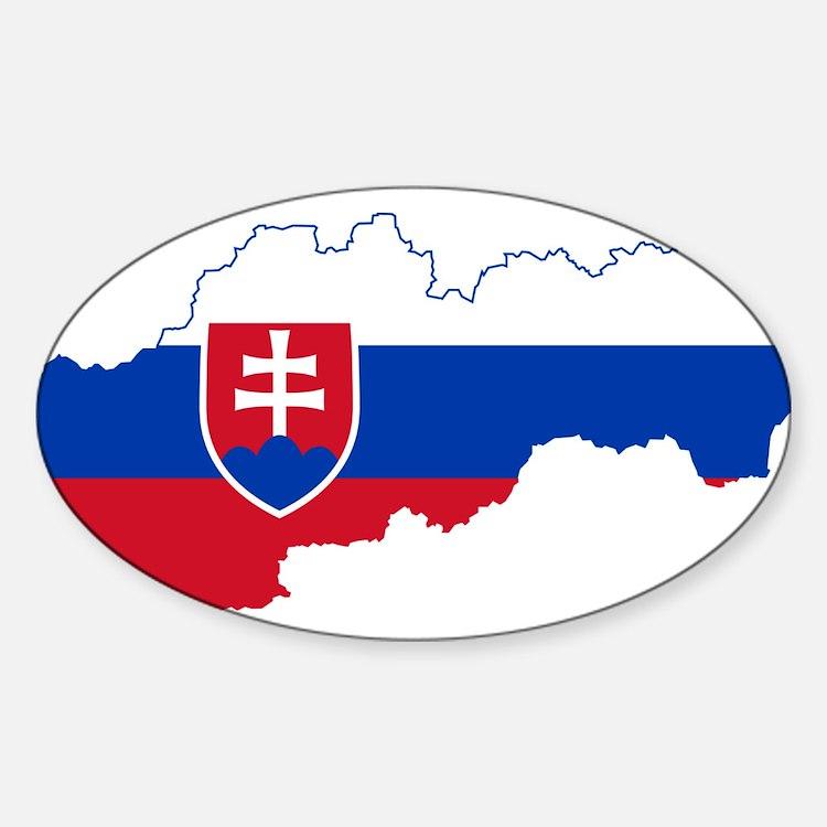 Slovakia Flag and Map Decal