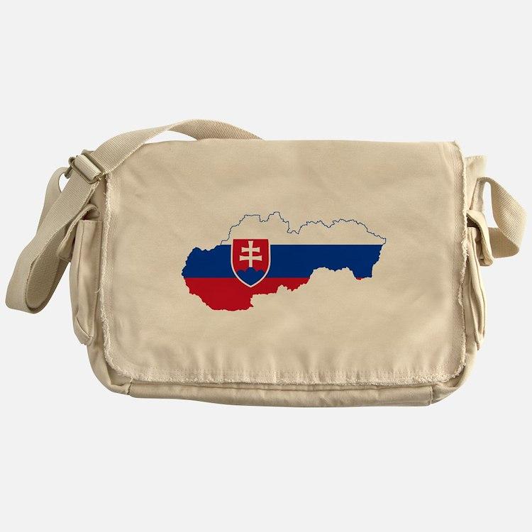 Slovakia Flag and Map Messenger Bag