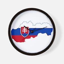 Slovakia Flag and Map Wall Clock