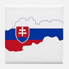 Slovakia Flag and Map Tile Coaster