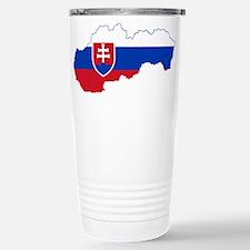 Slovakia Flag and Map Travel Mug