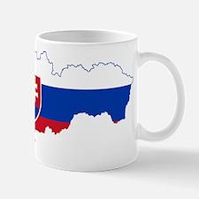 Slovakia Flag and Map Mug