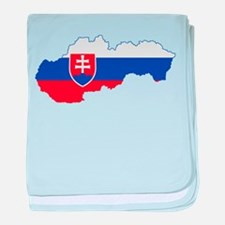 Slovakia Flag and Map baby blanket
