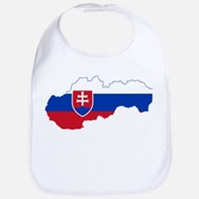 Slovakia Flag and Map Bib
