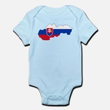 Slovakia Flag and Map Infant Bodysuit