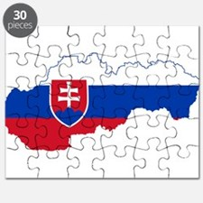 Slovakia Flag and Map Puzzle