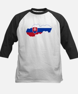 Slovakia Flag and Map Tee