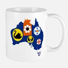 Australia States and Territories Flag and Map Mug