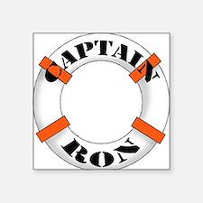 "cap ron.png Square Sticker 3"" x 3"""