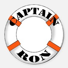 cap ron.png Round Car Magnet