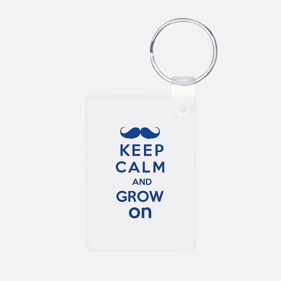 Keep calm and grow on Keychains