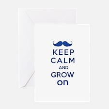 Keep calm and grow on Greeting Card