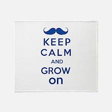Keep calm and grow on Throw Blanket