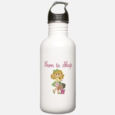 Born to Shop Girl Water Bottle