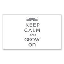 Keep calm and grow on Decal