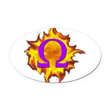 We are Omega! Oval Car Magnet