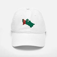 Turkmenistan Flag and Map Baseball Baseball Cap