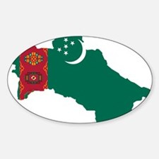 Turkmenistan Flag and Map Decal