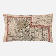 Vintage Map of Utah (1883) Pillow Case