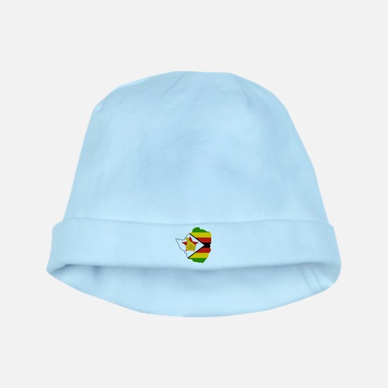 Zimbabwe Flag and Map baby hat