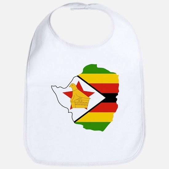 Zimbabwe Flag and Map Bib