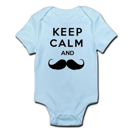 Keep calm and moustache Infant Bodysuit