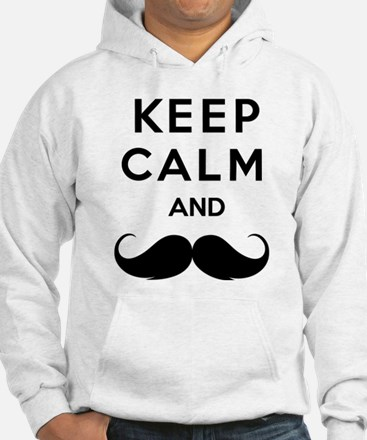 Keep calm and moustache Hoodie
