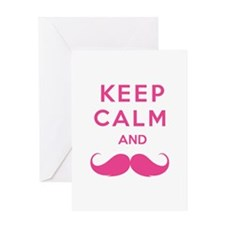 Keep calm and moustache Greeting Card