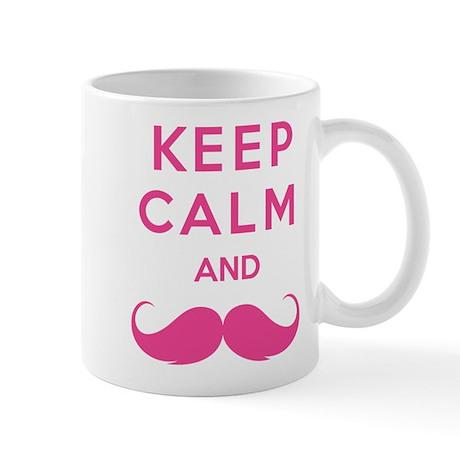 Keep calm and moustache Mug
