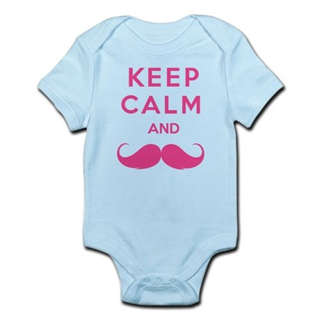 Keep calm and moustache Infant Bodysuit