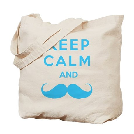 Keep calm and moustache Tote Bag