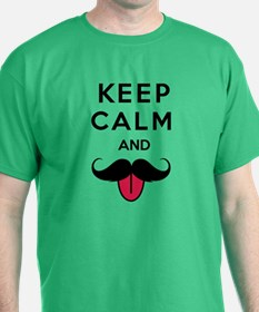 Funny keep calm and moustache T-Shirt