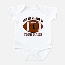 1st birthday allstar football Infant Bodysuit
