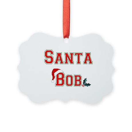 santa bob.png Picture Ornament