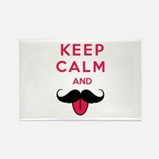 Funny keep calm and moustache Rectangle Magnet (10