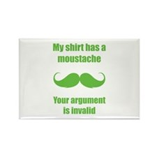 My shirt has a moustache Rectangle Magnet (10 pack
