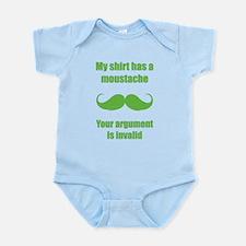 My shirt has a moustache Infant Bodysuit