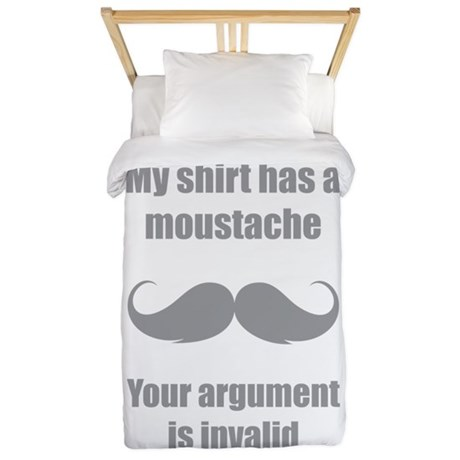 My shirt has a moustache Twin Duvet