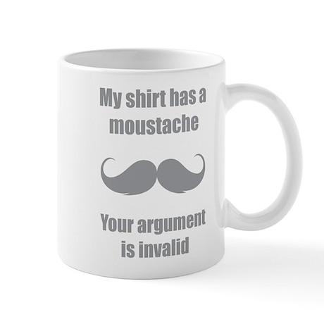 My shirt has a moustache Mug