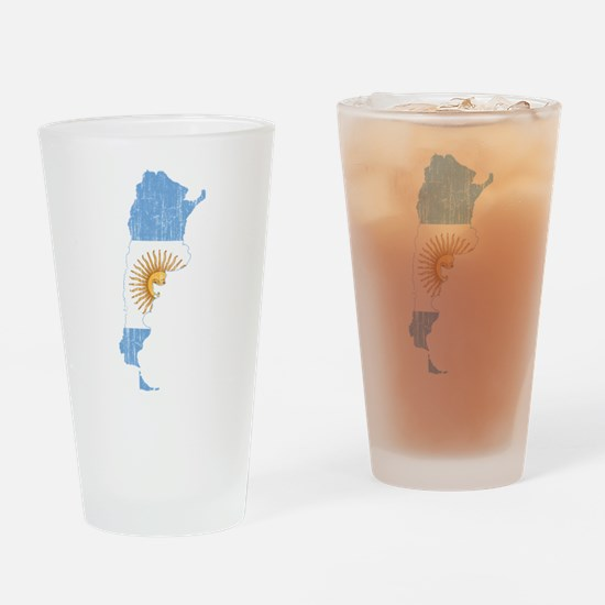 Argentina Flag And Map Drinking Glass